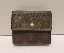 LOUIS VUITTON Elise Wallet Brown Monogram Compact Trifold Unisex