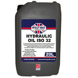 Hydraulic Oil ISO 32 Fluid 20L VG32 Westway High Grade 20 Litres DIN 51524