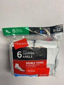 Hanes Men's Cushion Ankle Socks ( Size 6-12, 6-Pack)