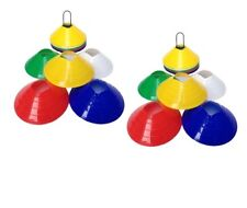 50Pcs Field Marking Marker Disc Cones Soccer Football Training Sports Saucer
