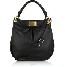 MARC BY MARC JACOBS BLACK GOLD LEATHER HOBO HILLIER SHOULDER CROSSBODY BAG