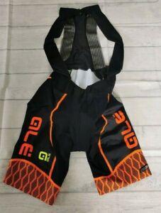 Ale PRS Women's Cycling Bibshorts, Black/Orange, Large. ALE60