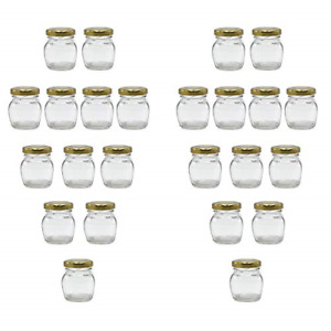 U-Pack 2oz Glass Jar With Gold Lid For Honey Jam Spice pack of 24 sets