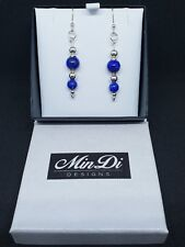Handmade earrings with Sterling Silver & Lapis Lazuli.