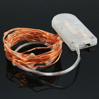 1/2/6/10x 2M Copper Wire LED Fairy String Lights Micro Jar Vase Battery