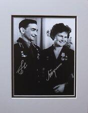 First Woman in Space Valentina Tereshkova & Valery Bykovsky Autographed Photo
