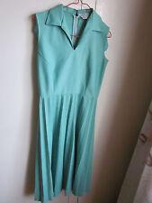 Cute vintage aqua colored sunray pleated dress