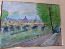 Garabed A. MOMDJIAN (1922)-Arménie-Aquarelle-Paris-Peinture originale--painting