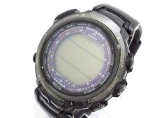 Auth CASIO Purotorekku PRX-2000L Black 9N0054 201D3221 Men's Wrist Watch