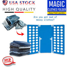 Adult T-Shirt Clothes Folder Magic Fast Laundry Organizer Folding Board Blue