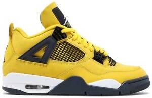 Nike Air Jordan 4 Retro Lightning Tour Yellow 2021 GS and Men's