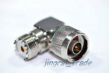 UHF Female Jack SO239 to N Plug Male 90° Right Angle elbow RF Adapter for Radio