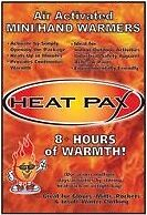 HEAT PAX Body Warmer Chaufferette jetable gant veste tour de cou , chauffe main