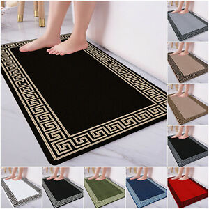 Non Slip Bath Mat Water Absorbent Extra Large Bathroom Rug Toilet Pedestal Mats