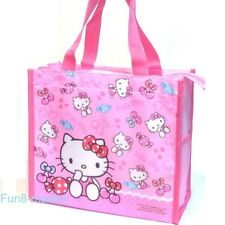Hello Kitty Lunch Box Bento Tote Case Shopping Grocery Storage Kids Shoulder Bag