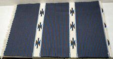 Vintage Wool Hand Woven Rug Ortega's Weaving Shop Chimayo New Mexico 25.5 x 78