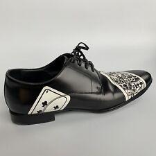 Dolce & Gabbana Men's Leather Shoes Black Size UK8 EUR42 Derby Lace Up Shoes