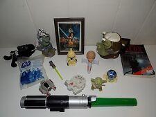 Vintage Collection of Star Wars Collectibles Gamorrean Guard Mug Light Saber Etc