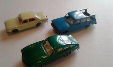Matchbox Ferrari Berlinetta #75, Ford Corsair #45 and Studebaker Lark #42