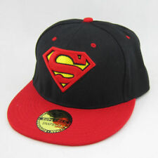 New Red black Superman Cosplay hiphop Snapback Adjustable baseball cap flat hat