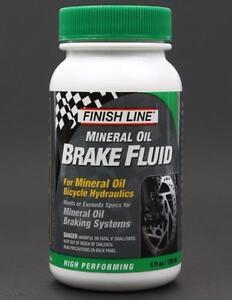 Finish Line Mineral Oil 4oz Bike Hydraulic Disc Brake Fluid for Shimano / Magura