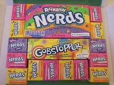 Wonka Gobstoppers Rainbow Nerds Gift Box - American Retro USA Candy Sweets