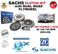 pour VW TOURAN 1.9 TDI 90BHP 100 BHP 105BHP 2003 et plus SACHS Kit d'em brayage