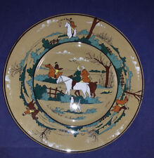 "Buffalo Pottery Deldare ""The Fallowfield Hunt- The Start"" 9 1/4"" Plate 1909 Sgnd"
