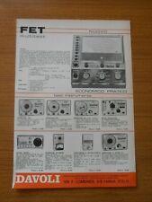 1971 FET MULTISET KRUNDAAL STRUMENTO ANALIZZATORE CARATTERISTICHE TEST INSTRUMEN