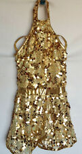Weissman Costumes Gold Sequin Skating Outfit Girls Style 10107