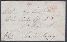 1836 Free Front Ireland, Dublin,HARCOURT STREET;74th Regiment,Londonderry;Signed