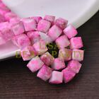 New 10pcs 10mm Cube Square Faceted Glass Loose Spacer Colorful Beads Red&Brown