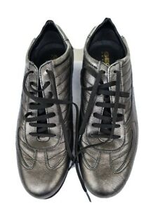 Geox Mens Shoes. Pre owned size 45. Metallic grey colour, sneakers style.