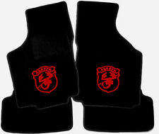 Black Velours Floormats for Fiat Ritmo Abarth 125TC 130TC with red