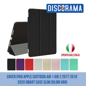 COVER IPAD APPLE CUSTODIA AIR 1 AIR 2 2017 2018 2020 SMART CASE SLIM COLORI VARI