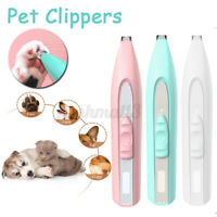 Electric Pet Nail Trimmer Grinder Clipper Grooming Tool for Dogs Cats Claws
