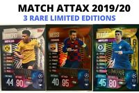 MATCH ATTAX 2019/20 19/20 SANCHO, MESSI & PULISIC 3 RARE LIMITED EDITIONS