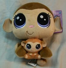 Hasbro LPS Littlest Pet Shop MONA JUNGLEVINE MONKEY Plush STUFFED ANIMAL Toy NEW