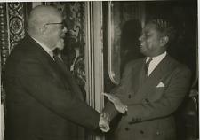 Paris, Jules Gasser et Gaston Monnerville Vintage silver print,Jules Gasser, n