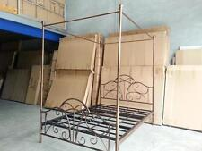 Handmade Classic Iron Scroll Canopy / Poster Iron Bed Ends Frame Queen CPRD