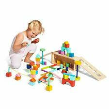 The Block Set by – Solid Wood Building Blocks and Shapes + Wooden Storage
