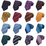 Men's Bright Color Necktie Floral Paisley Striped Pattern Ties Wedding Party