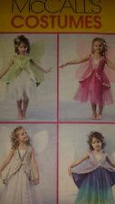 McCALLS COSTUMES FAIRY WITH WINGS PATTERN M4887 GIRL'S2,3,4,5 UNCUT