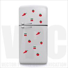 wall stickers adesivi frigo decorare fragolina ciliegie pomo casa mobili vetri