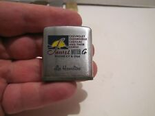 1950'S 60'S  ZIPPO TAPE MEASURE SUNSET MOTOR CO 3 COLOR CHEVY OLDS CADILLAC L@@K