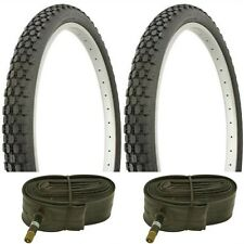 "2 BLACK 26x2.125"" BEACH CRUISER BIKE BIG BRICK TIRES/ TUBES fits SCWHINN s2 rim"