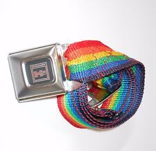 Buckle Down Belt Rainbow and Hummer One Size Fits Seat belt