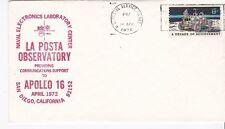 LA POSTA OBSERVATORY APOLLO 16 US POSTAL SERVICE, CA APRIL 16, 1972