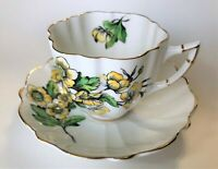 *RARE*  Victoria C & E - Buttercup teacup & saucer