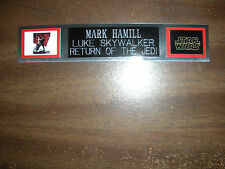 MARK HAMILL (LUKE SKYWALKER) NAMEPLATE FOR SIGNED PHOTO/MEMORABILIA DISPLAY